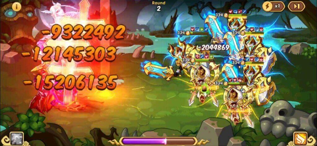 idle heroes pc battles