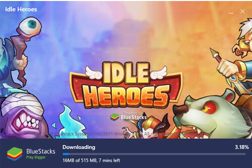 downloading required files to play idle heroes on computers