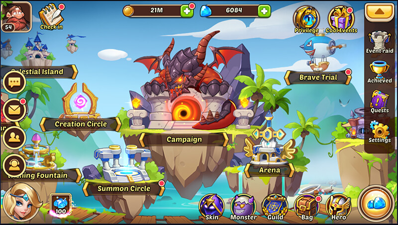 playing idle heroes on pc