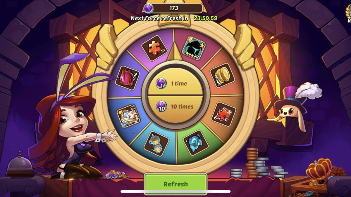 Super Wishing Well Idle Heroes